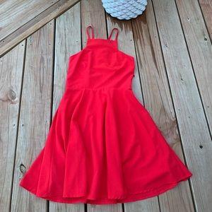 Red, Skater Skirt Dress